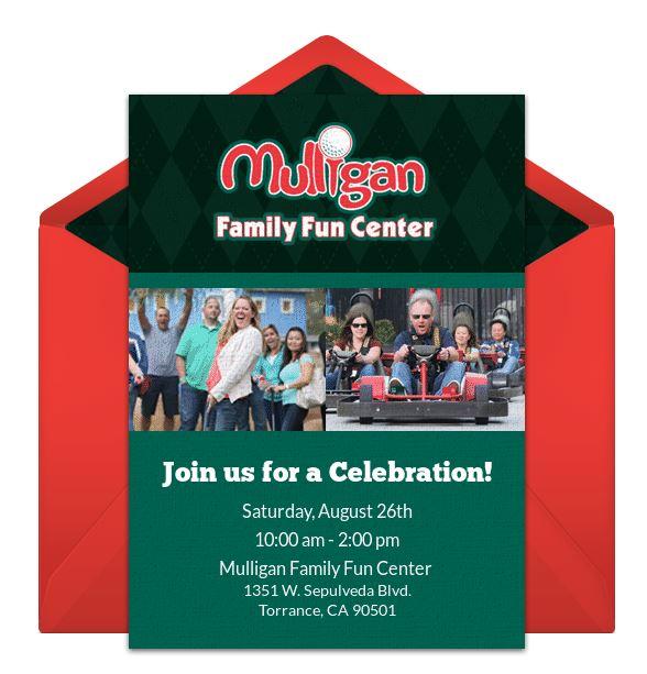 Invitations Birthday Parties Mulligan Family Fun Center