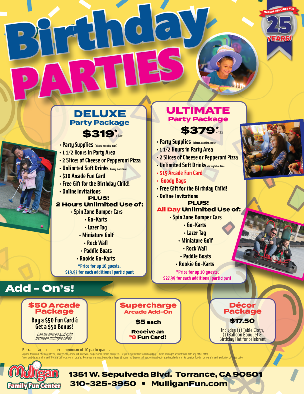 Download Our Birthday Party Flyer